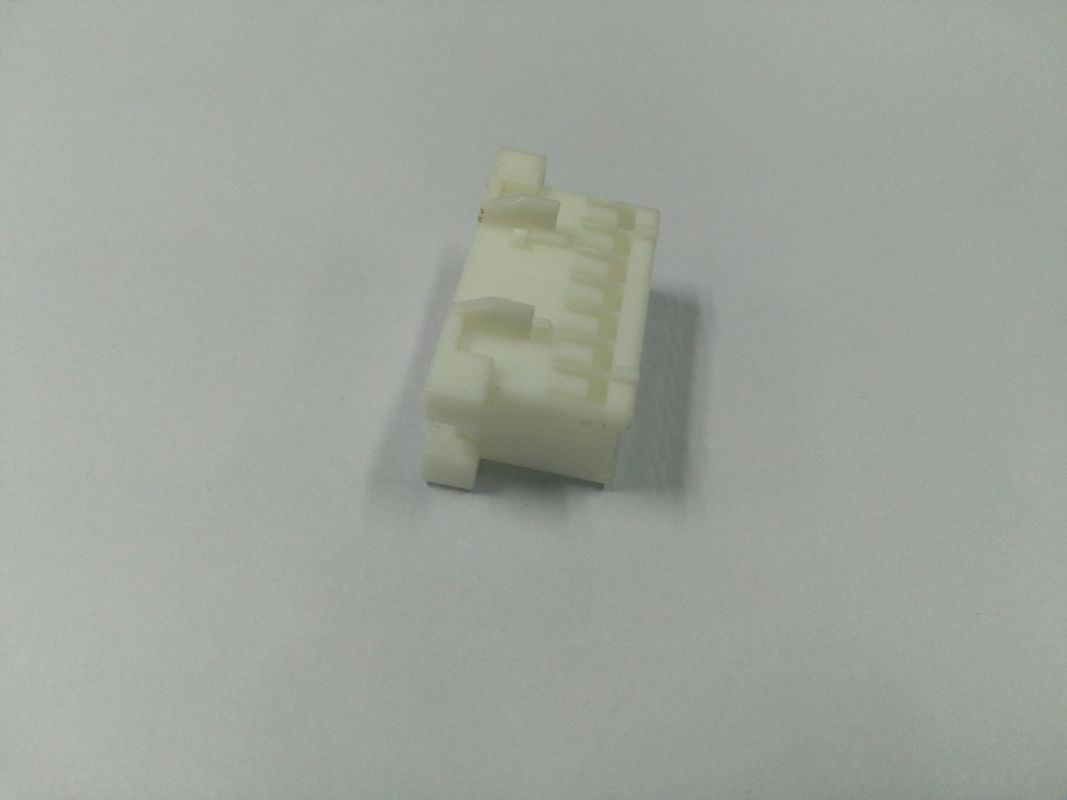 PC Material Of  Connector Part  With Wihte Colour , Plastic Injection Molded Parts