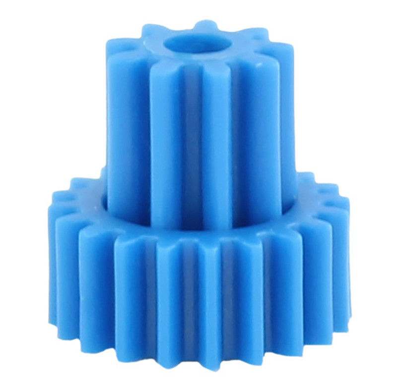 Double Gears High Precision Gears Of Plastic Gear Moulding In Blue Color